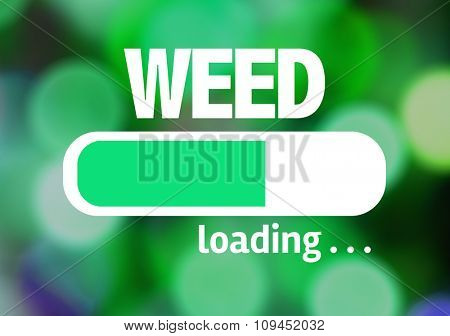 Progress Bar Loading with the text: Weed