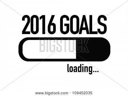 Progress Bar Loading with the text: 2016 Goals