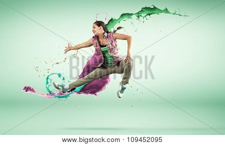 Dancer in jump
