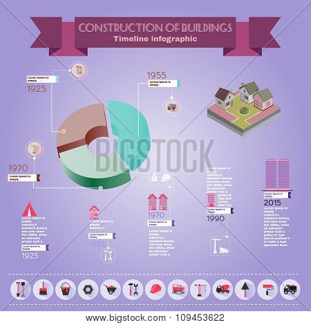 Construction Infographics Illustration