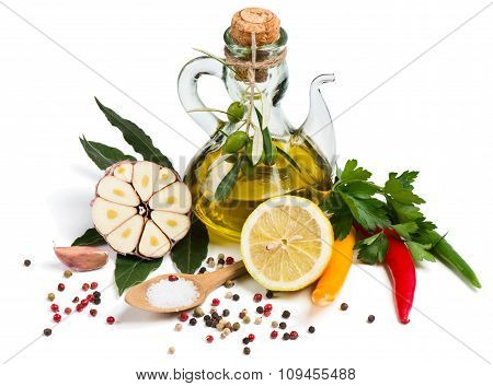 Set Of Spice For Food Cooking