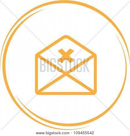 mail cancel. Internet button. Raster icon.