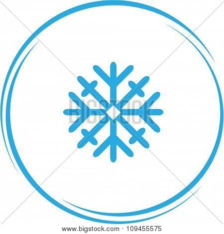 snowflake. Internet button. Raster icon.