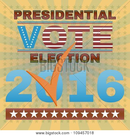 Presidential Election Vote 2016 Banner