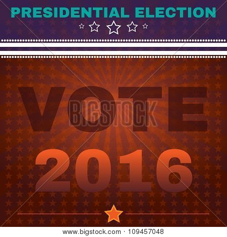 Usa Presidential Election Vote 2016 Banner