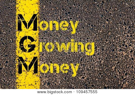 Business Acronym Mgm As Money Growing Money