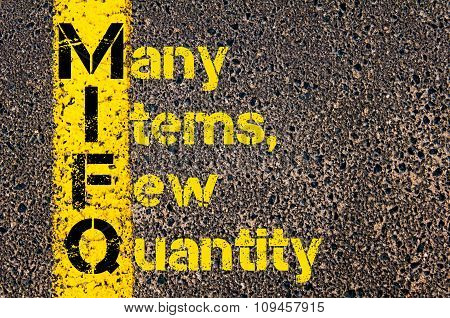 Business Acronym Mifq As Many Items, Few Quantity