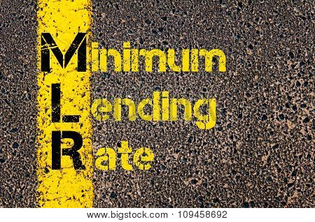 Business Acronym Mlr As Minimum Lending Rate