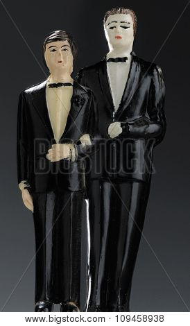 two guys in wedding suits