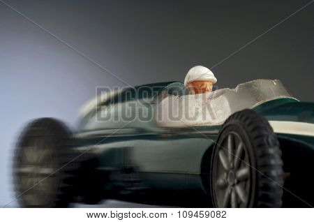 toy race car speeding