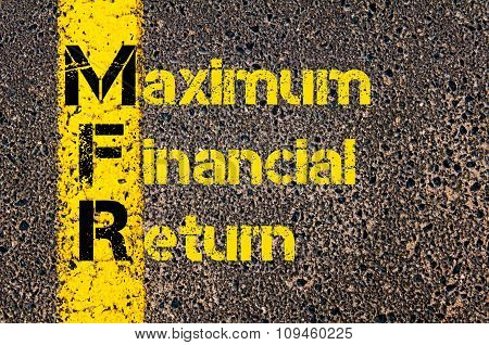 Business Acronym Mfr As Maximum Financial Return