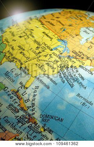 globe-north america view