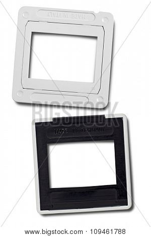 black and white transparency mounts