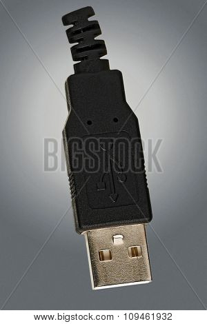 universal serial bus close up w/clipping path