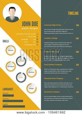 New Modern Resume Cv Template With Photo