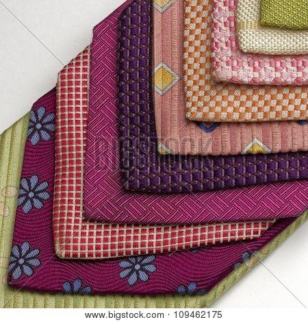 colorful ties - macro