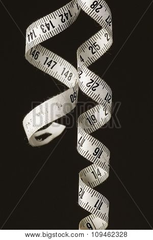 whirled white tape measure