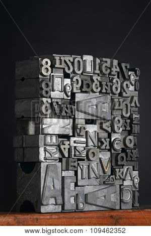 lead letters typeset