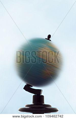 turning globe