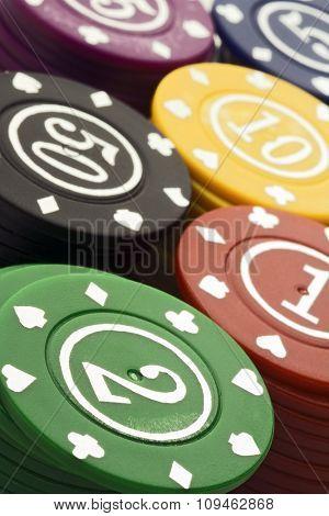 multicolored casino chips