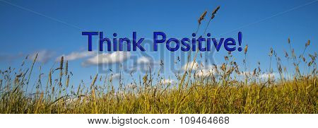 Positive Thinking, Concept For Business Success, Strategy, Ideas.