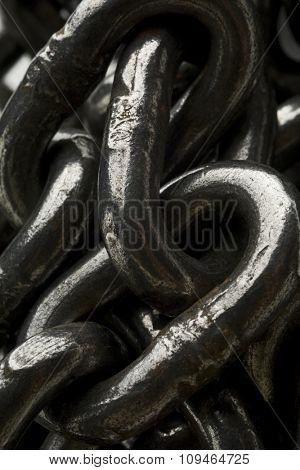 a closeup of chain