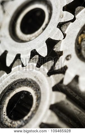 detail of an old rusty gears