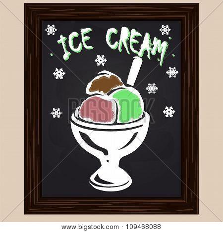 Fruit Ice Cream In The Glass