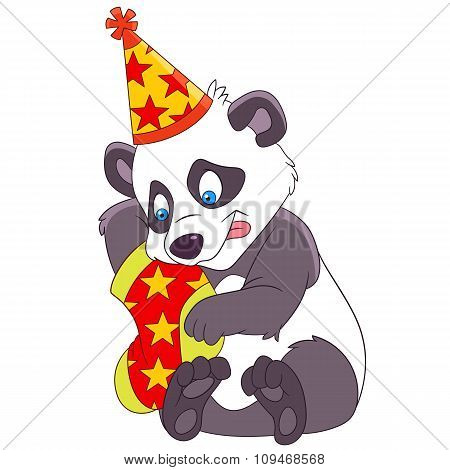 Christmas Cartoon Panda