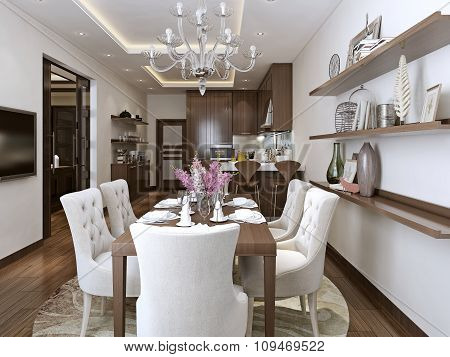 Kitchen And Diner Neoclassical Style