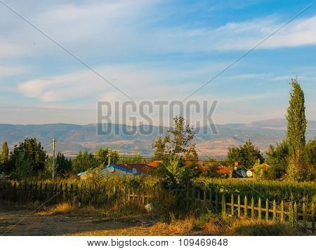 Small Village In The Plains Of Turkey