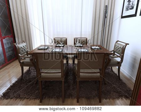 Dining Room Art Deco Style