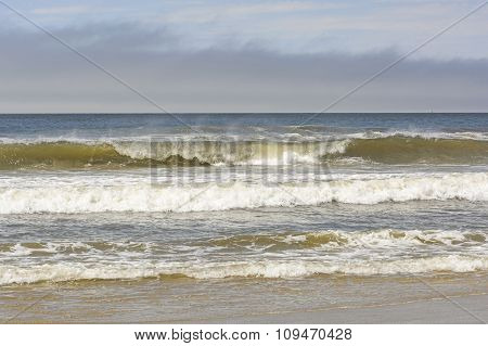 Crashing Waves On A Remote Beach