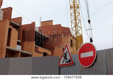 signs at construction site