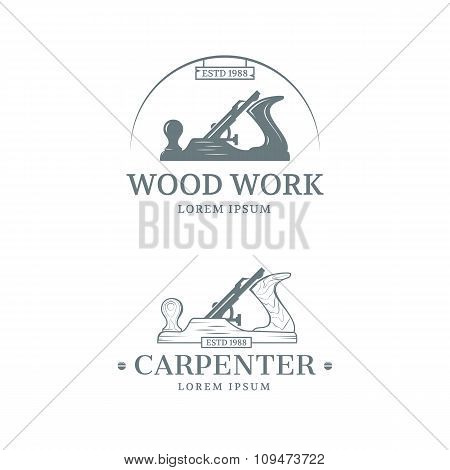 Woodwork label design