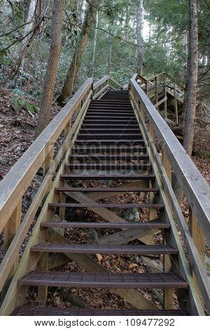 Stairs At Tallulah Gorge State Park In North Georgia