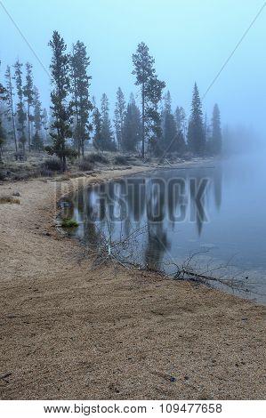 Fog Blankets The Lake.