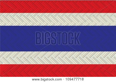 Thailand Flag In Art Design  Vector Illustration 8
