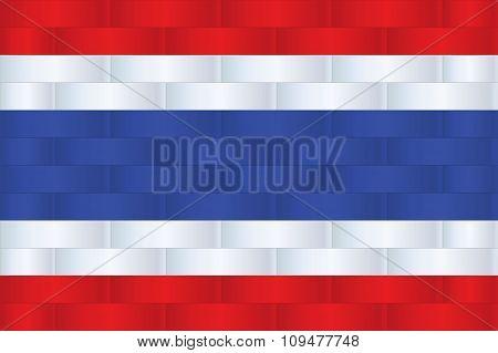 Thailand Flag In Art Design  Vector Illustration 9