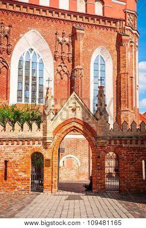St. Anne Church In Vilnius, Lithuania
