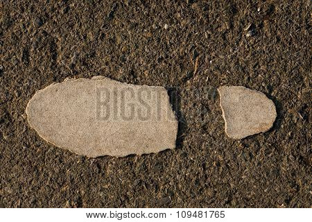 Symbol Of Foot Walk Lane On Road