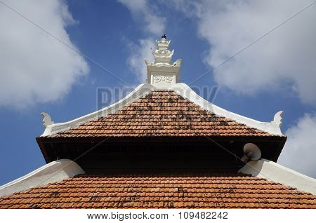Roof of Peringgit Mosque in Malacca, Malaysia