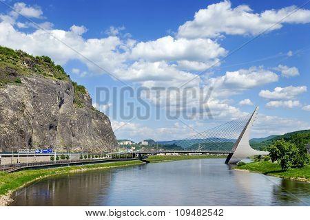 Marian Bridge Over Elbe River, Usti Nad Labem,   Czech Republic.