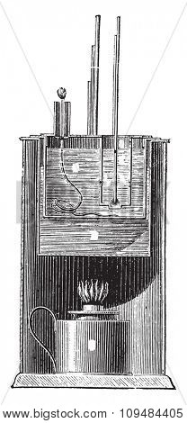 Device Parrish, vintage engraved illustration. Industrial encyclopedia E.-O. Lami - 1875.