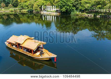 Tourist boat in the river