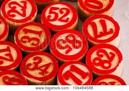 Wooden Numbers Texture