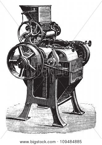 Porcelain cylinders Converter, Wegmann, vintage engraved illustration. Industrial encyclopedia E.-O. Lami - 1875.