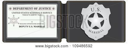 Identity Card Us Marshal