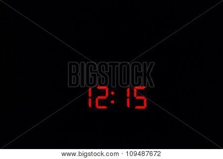Digital Watch 12:15
