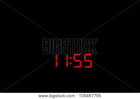 Digital Watch 11:55